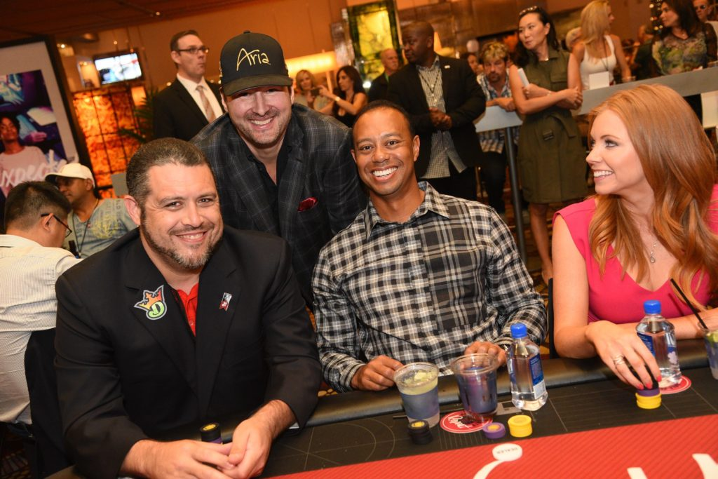 Phil Hellmuth e Tiger Woods