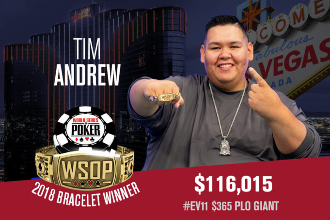 Tim Andrew campeão do Evento Giant Pot-Limit Omaha da WSOP