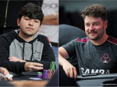 Leonardo Mattos e Fabiano Kovalski avançaram entre os demais maiores stacks no Main Event do WCOOP