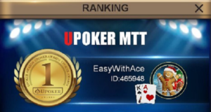"""EasyWithAce"" foi campeão do Monday Grand"